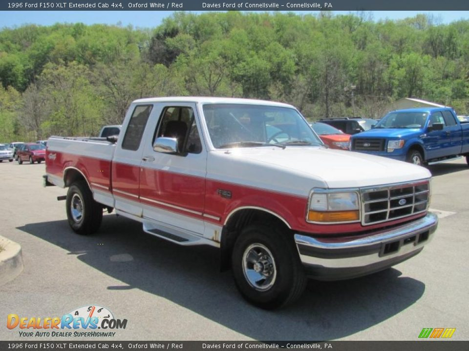 Front 3/4 View of 1996 Ford F150 XLT Extended Cab 4x4 Photo #4 ...