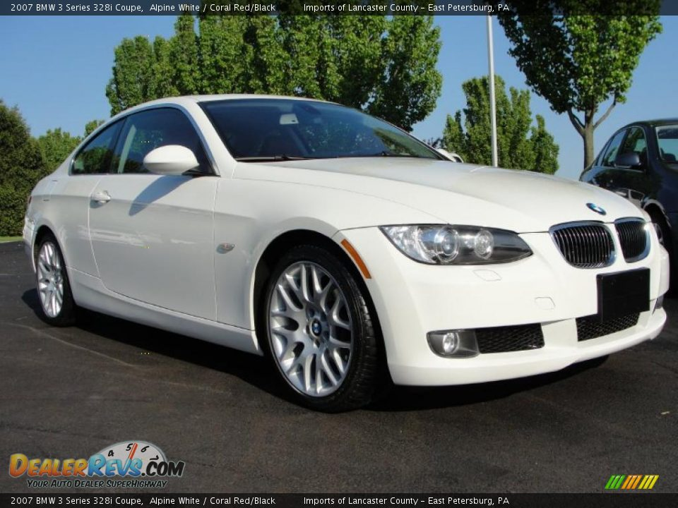 2007 bmw 3 series 328i coupe alpine white coral red black photo 15. Black Bedroom Furniture Sets. Home Design Ideas