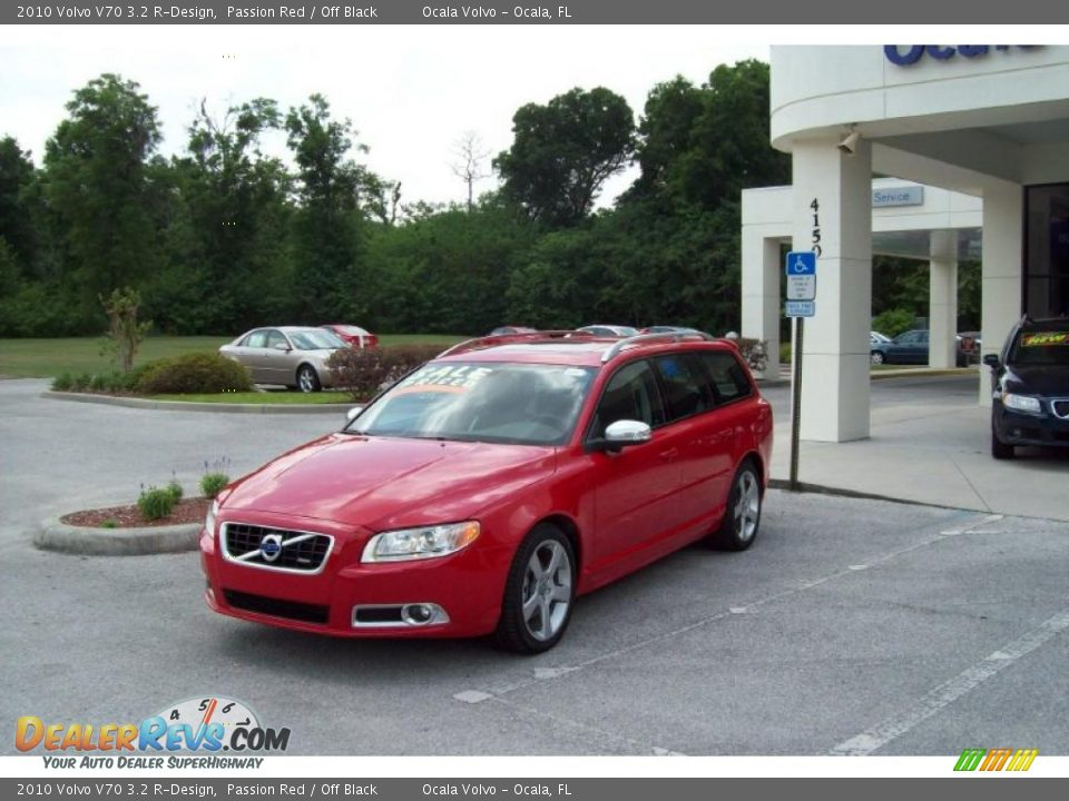 2010 Volvo V70 3.2 R-Design Passion Red / Off Black Photo #3 ...