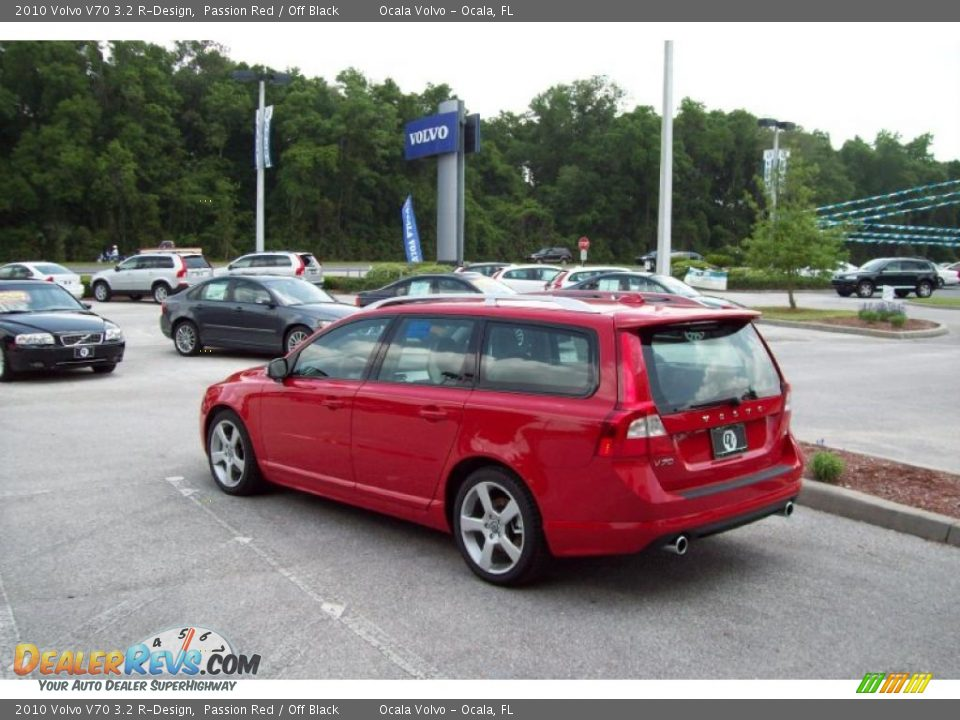 2010 Volvo V70 3.2 R-Design Passion Red / Off Black Photo #6 ...