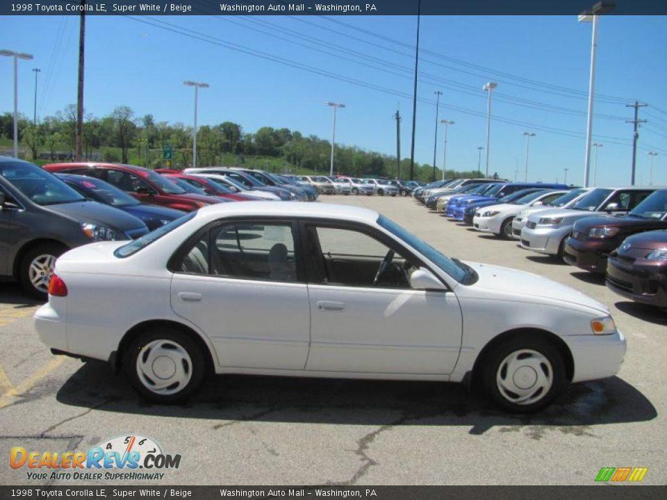 1998 Toyota Corolla Le Super White Beige Photo 6