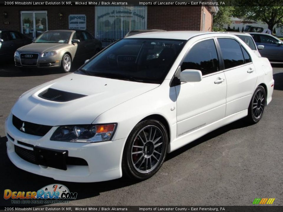 wicked white 2006 mitsubishi lancer evolution ix mr photo. Black Bedroom Furniture Sets. Home Design Ideas