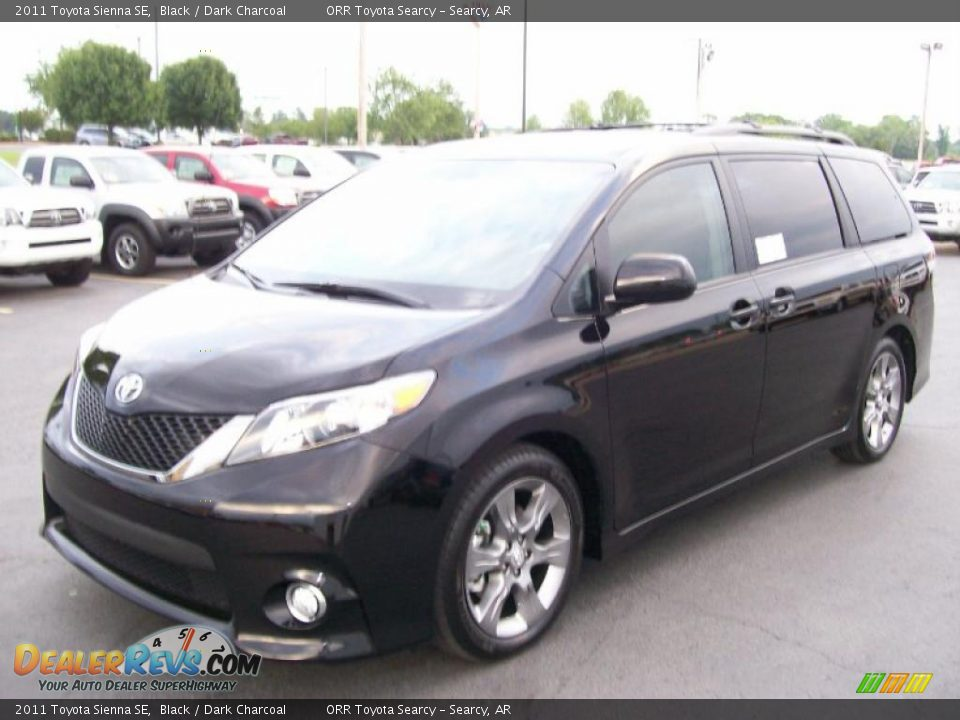 2011 toyota sienna se black dark charcoal photo 2. Black Bedroom Furniture Sets. Home Design Ideas