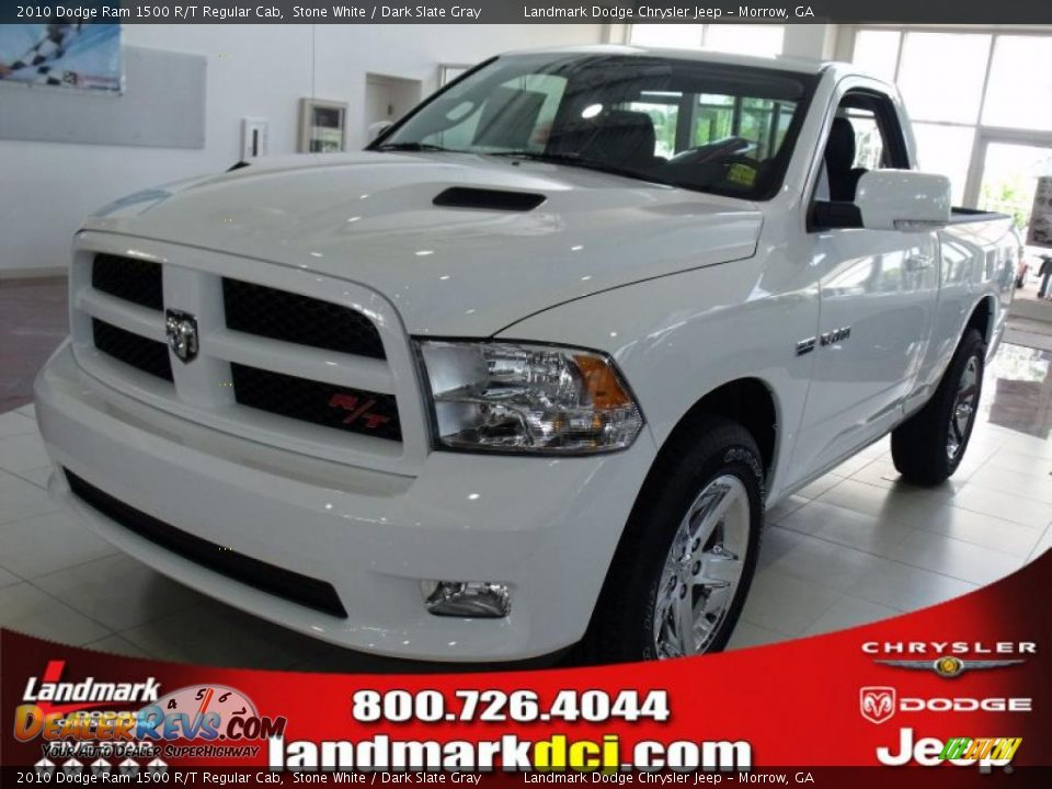 2010 dodge ram 1500 r t regular cab stone white dark slate gray photo 1. Black Bedroom Furniture Sets. Home Design Ideas
