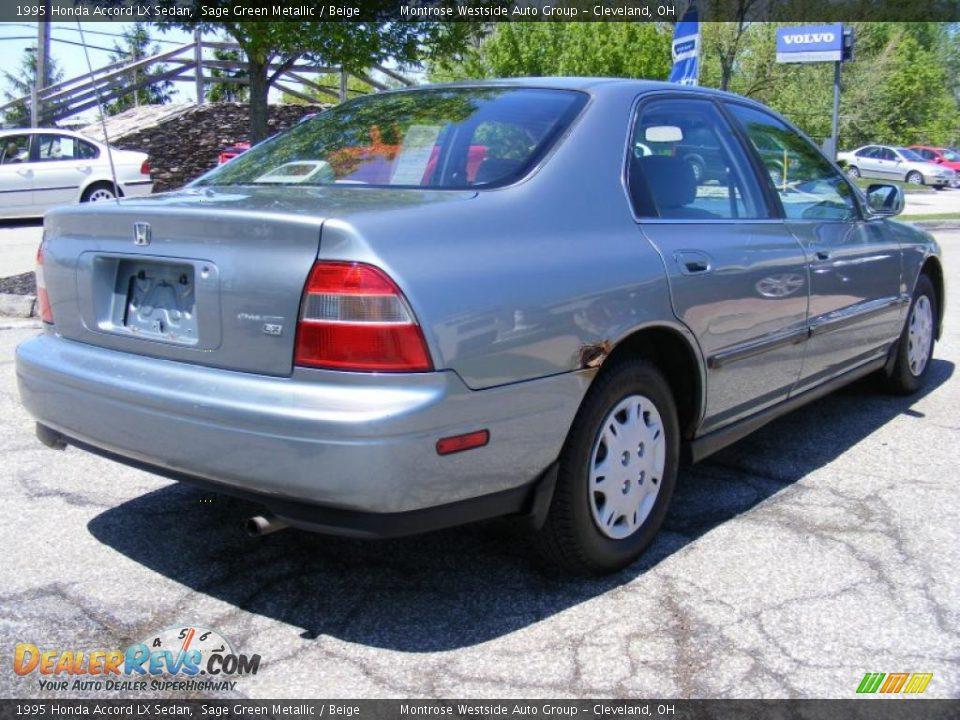 1995 honda accord lx sedan sage green metallic beige photo 5 dealerrevs com dealerrevs com