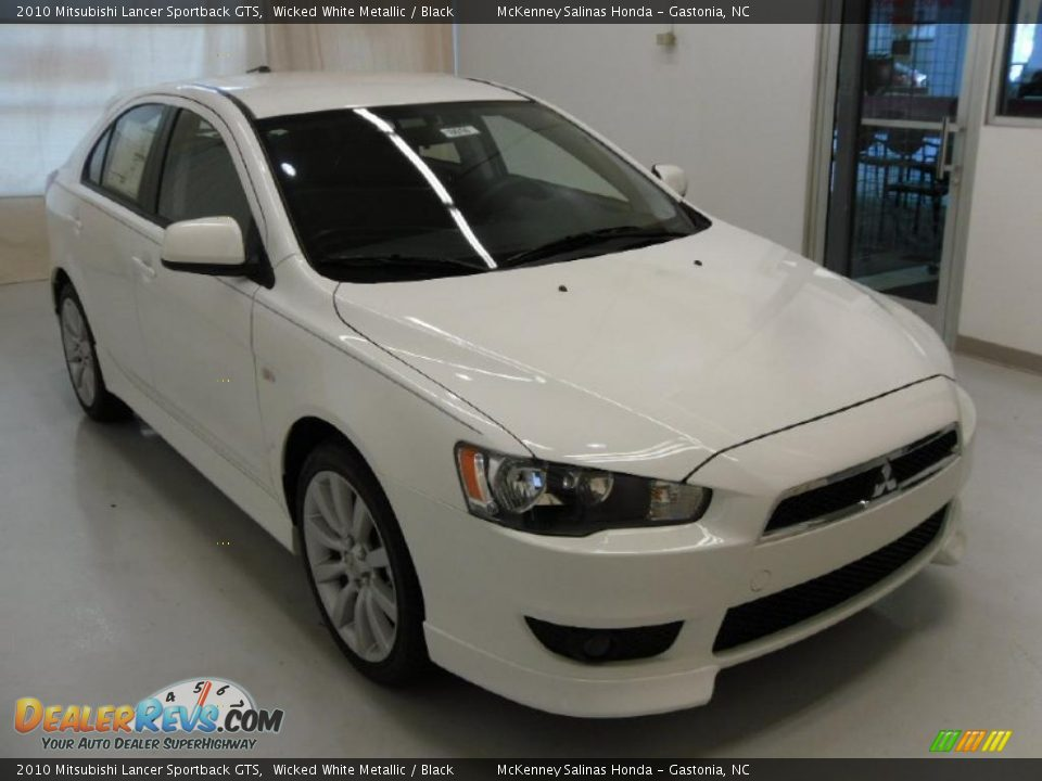 2010 mitsubishi lancer sportback gts wicked white metallic black photo 5. Black Bedroom Furniture Sets. Home Design Ideas