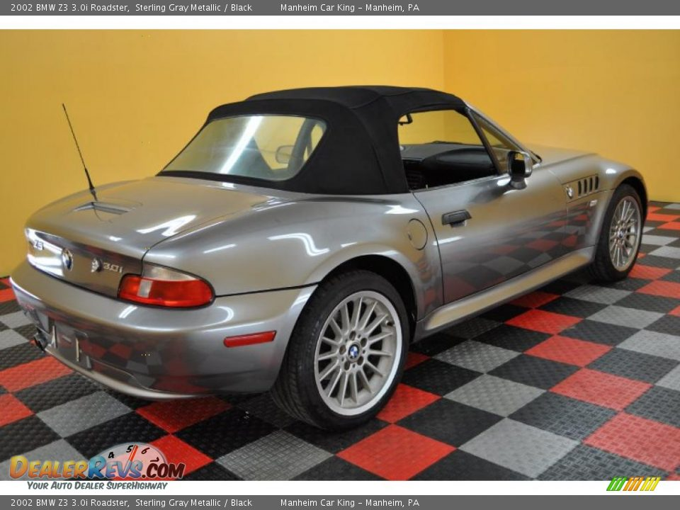 2002 Bmw Z3 3 0i Roadster Sterling Gray Metallic Black Photo 11 Dealerrevs Com