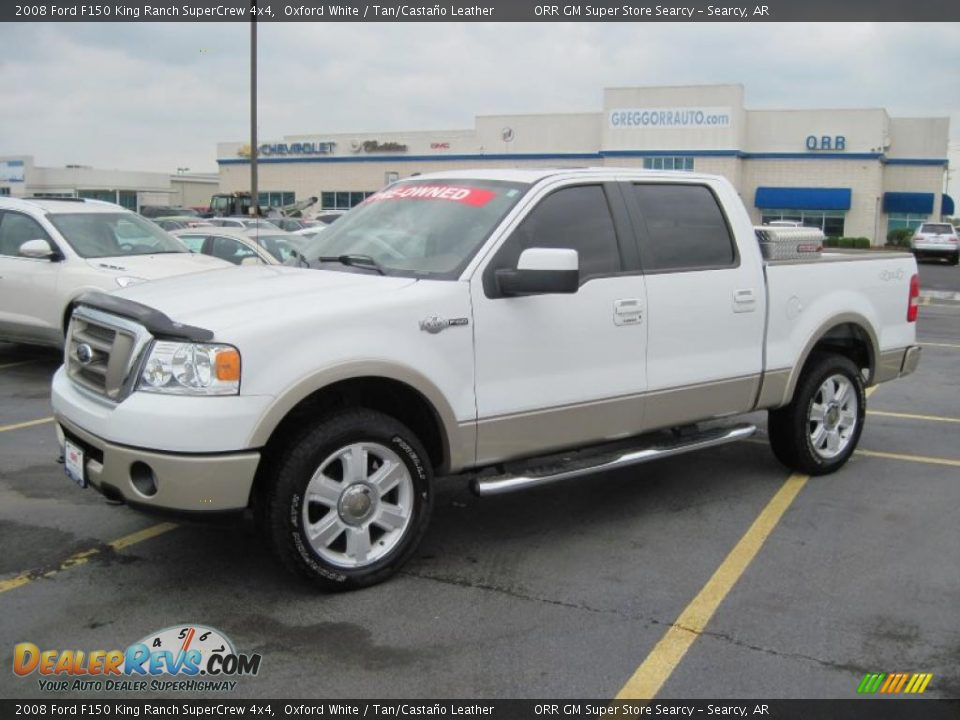 2008 ford f150 king ranch supercrew 4x4 oxford white tan casta o leather photo 1. Black Bedroom Furniture Sets. Home Design Ideas