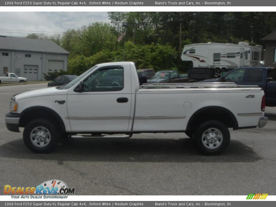1999 Ford F250 Super Duty XL Regular Cab 4x4 Oxford White / Medium ...
