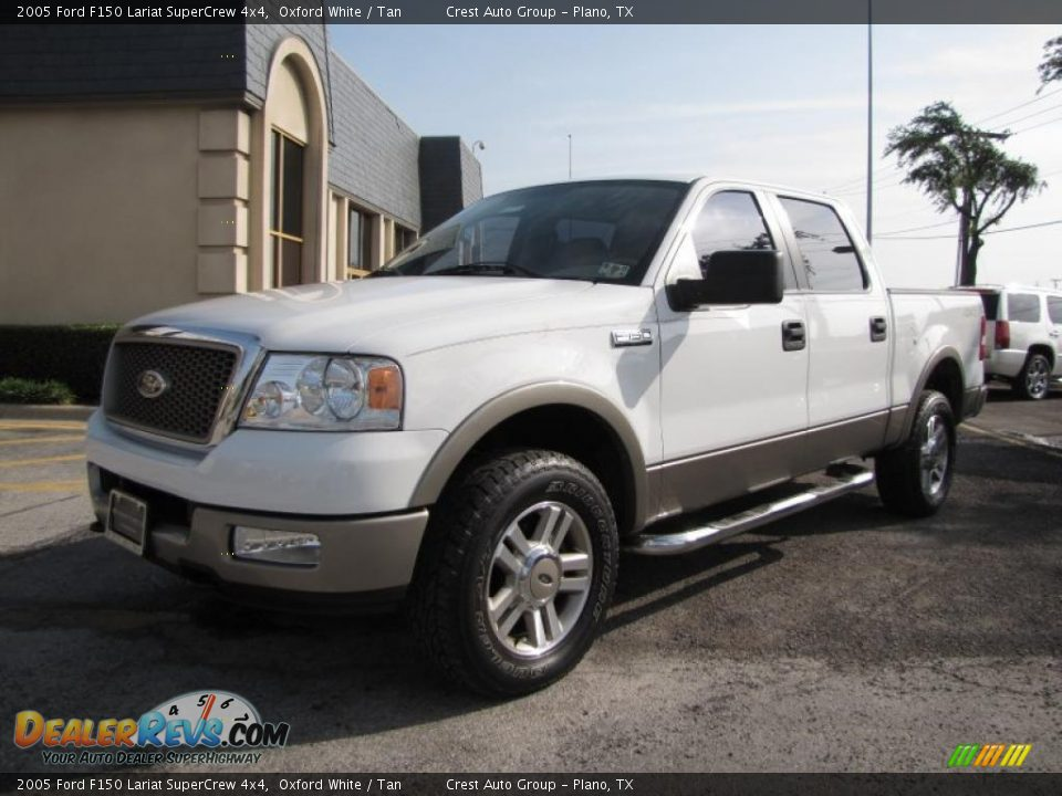 2005 ford f150 lariat supercrew 4x4 oxford white tan photo 3. Black Bedroom Furniture Sets. Home Design Ideas