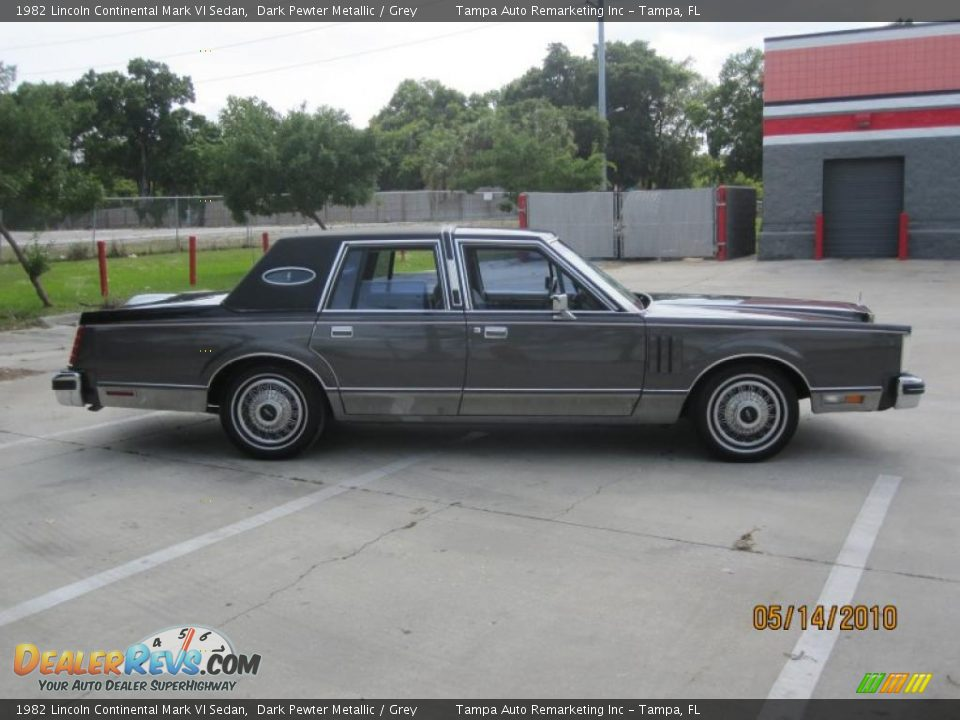 1982 lincoln continental mark vi sedan dark pewter metallic grey photo 8. Black Bedroom Furniture Sets. Home Design Ideas