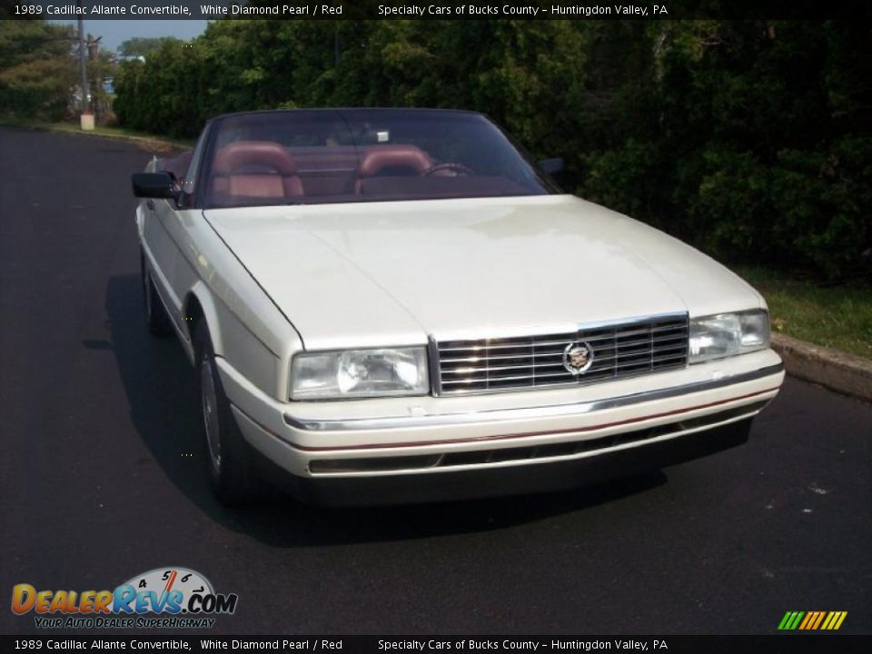 1989 Cadillac Allante Convertible White Diamond Pearl / Red Photo #16