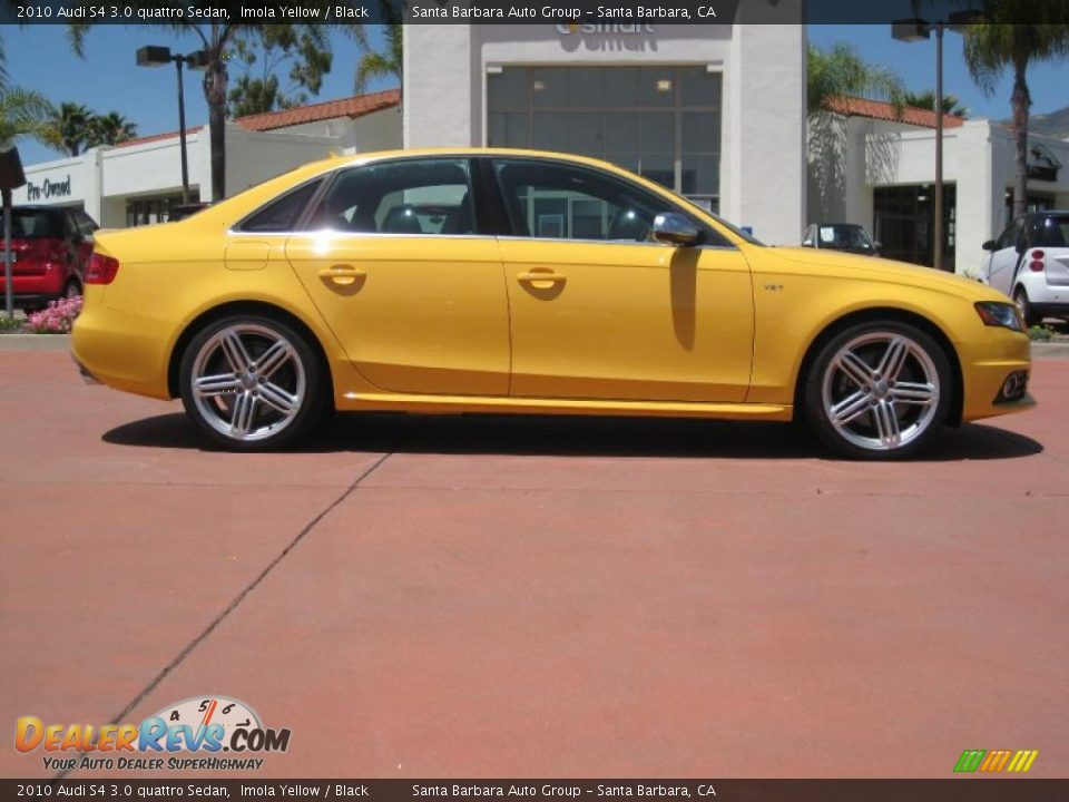 2010 Audi S4 3 0 Quattro Sedan Imola Yellow Black Photo