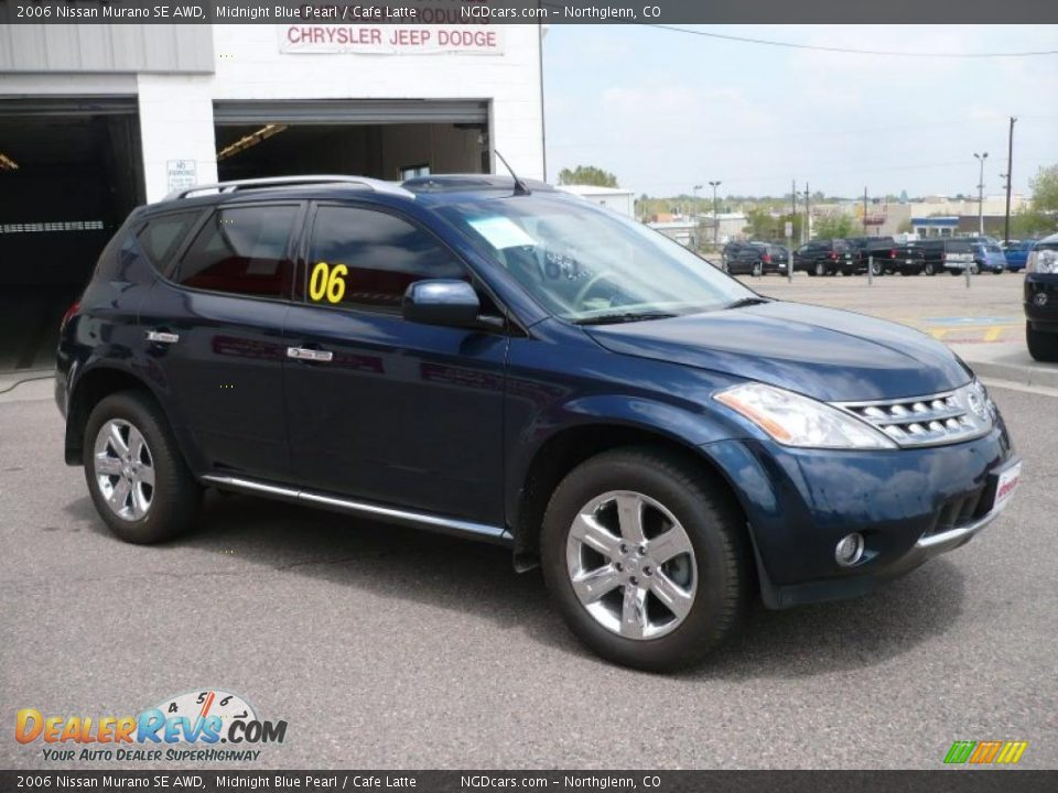 2006 Nissan Murano Se Awd Midnight Blue Pearl Cafe Latte