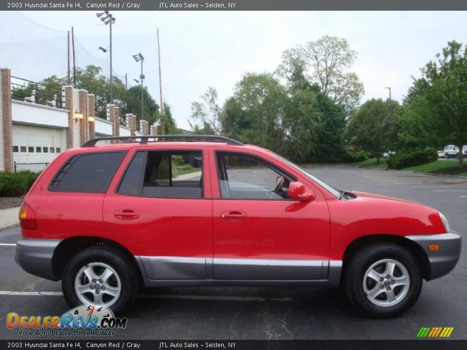 2003 Hyundai Santa Fe I4 Canyon Red Gray Photo 8