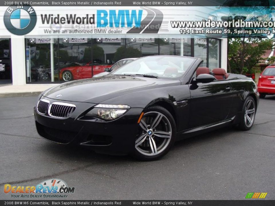 2008 BMW M6 Convertible Black Sapphire Metallic / Indianapolis Red