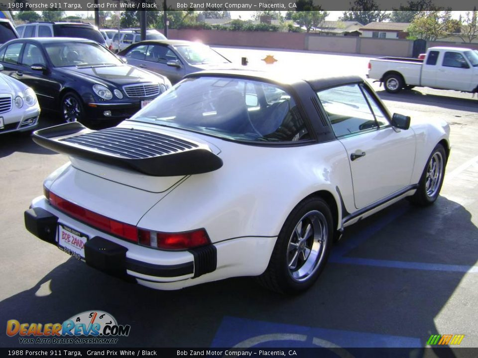 1988 porsche 911 targa grand prix white black photo 3. Black Bedroom Furniture Sets. Home Design Ideas