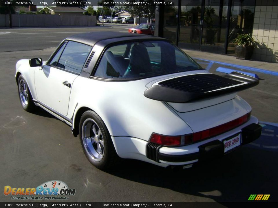 1988 porsche 911 targa grand prix white black photo 4. Black Bedroom Furniture Sets. Home Design Ideas