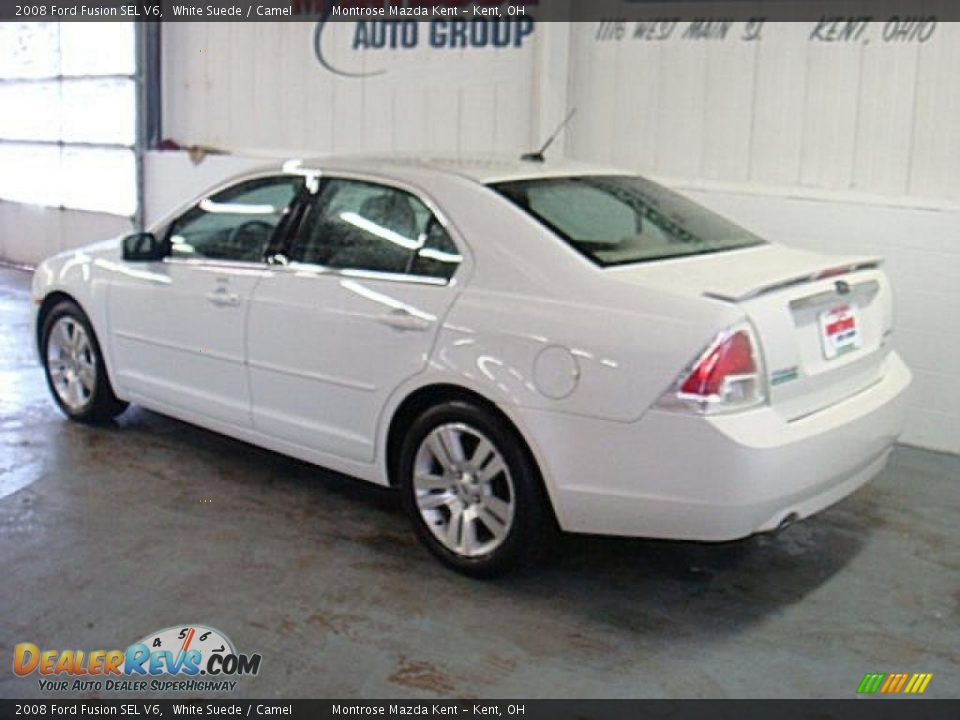 2008 Ford Fusion Sel V6 White Suede Camel Photo 6