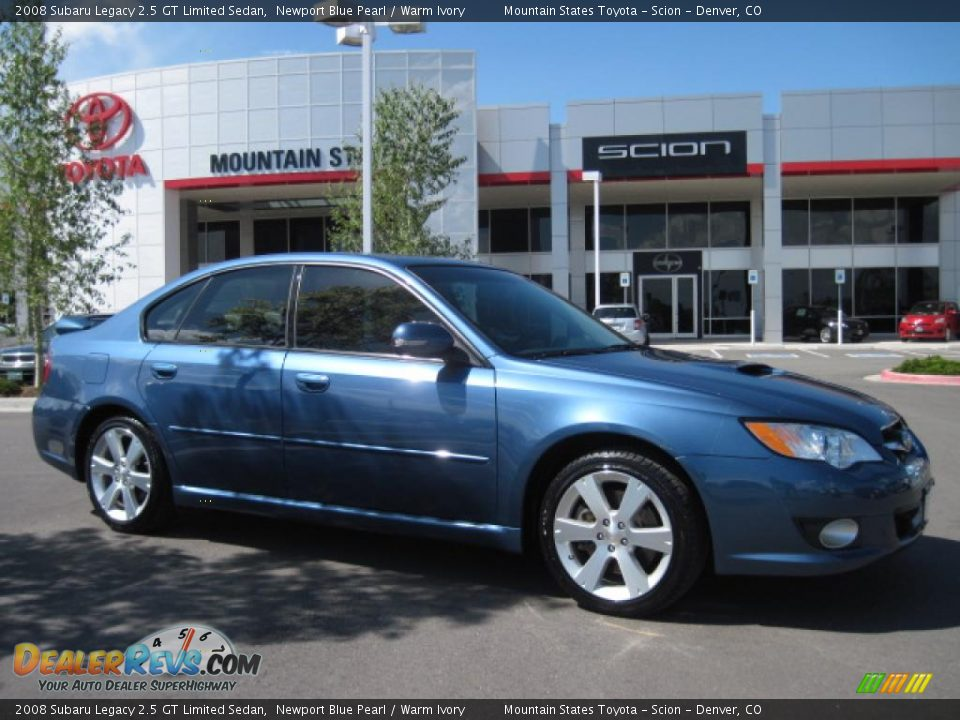 2008 subaru legacy 2 5 gt limited sedan newport blue pearl warm ivory photo 1. Black Bedroom Furniture Sets. Home Design Ideas