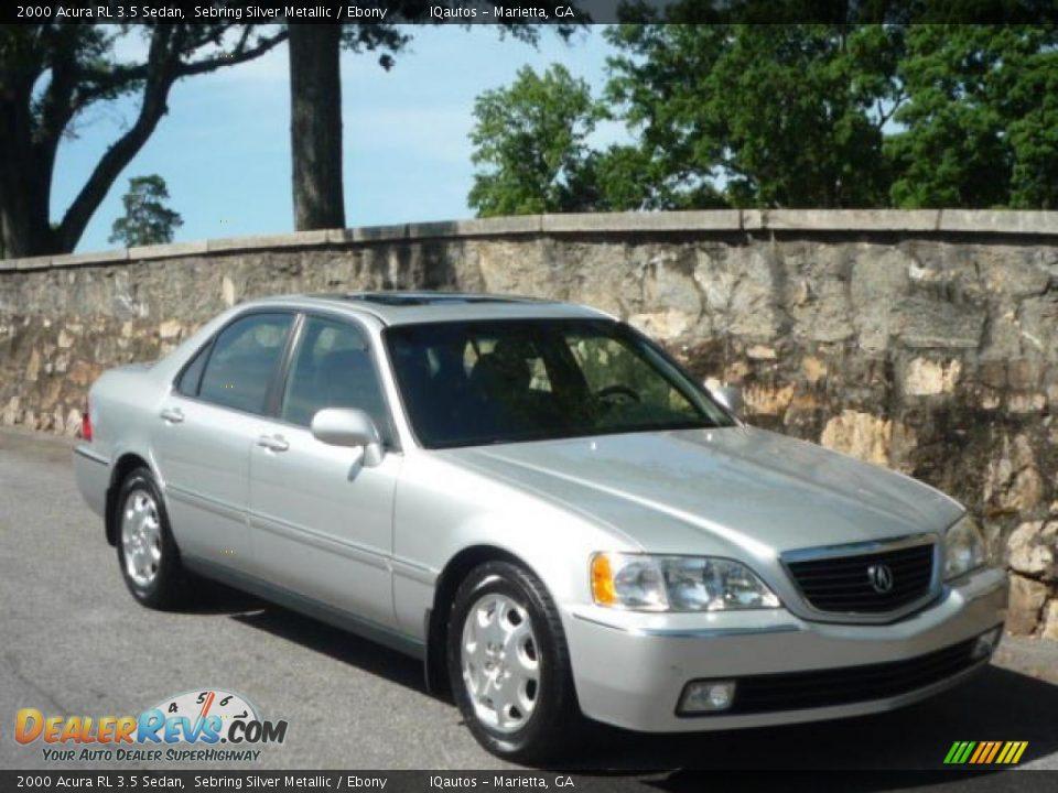 2000 Acura RL 3.5 Sedan Sebring Silver Metallic / Ebony Photo #1 | DealerRevs.com