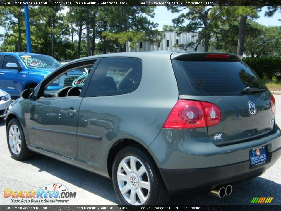 2008 Volkswagen Rabbit 2 Door Sage Green Metallic