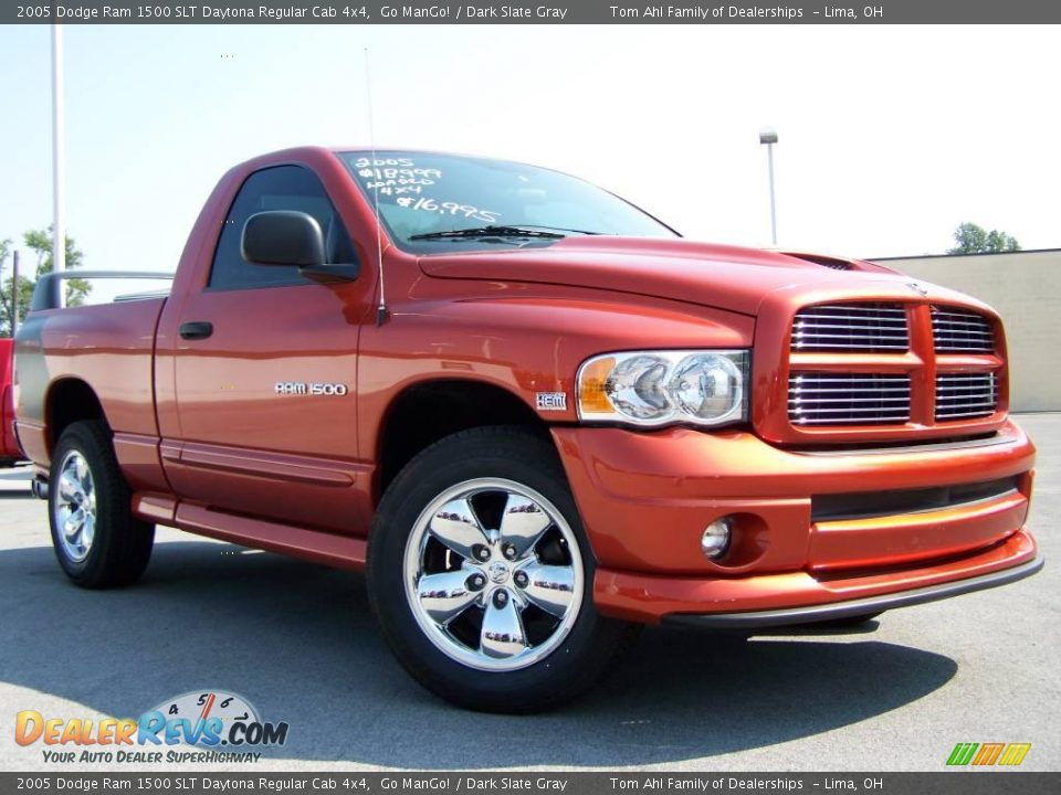 2005 dodge ram 1500 slt daytona regular cab 4x4 go mango dark slate gray photo 8. Black Bedroom Furniture Sets. Home Design Ideas