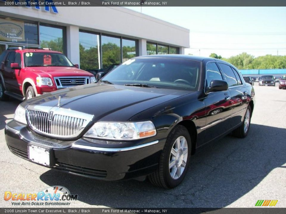 2008 lincoln town car executive l black black photo 1. Black Bedroom Furniture Sets. Home Design Ideas