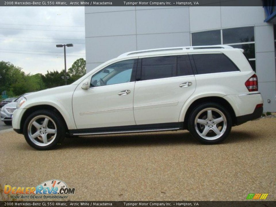 2008 mercedes benz gl 550 4matic arctic white macadamia for Mercedes benz 550 gl