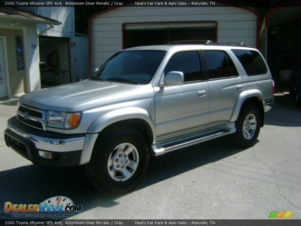 2000 Toyota 4runner Sr5 4x4 Millennium Silver Metallic