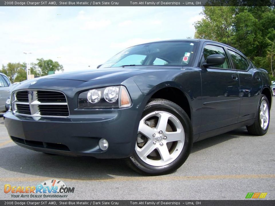 2008 Dodge Charger Sxt Awd Steel Blue Metallic Dark