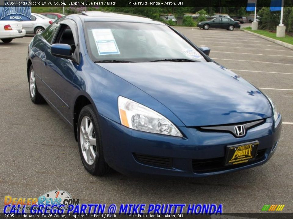 2005 honda accord ex v6 coupe sapphire blue pearl black photo 5. Black Bedroom Furniture Sets. Home Design Ideas