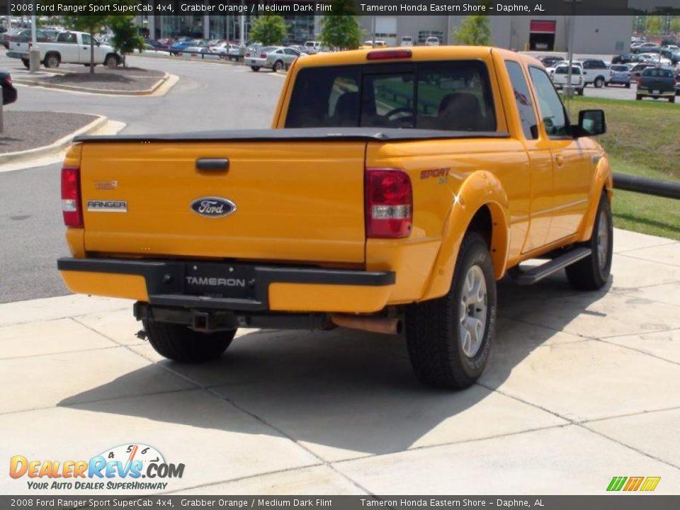 2008 Ford Ranger Sport Supercab 4x4 Grabber Orange