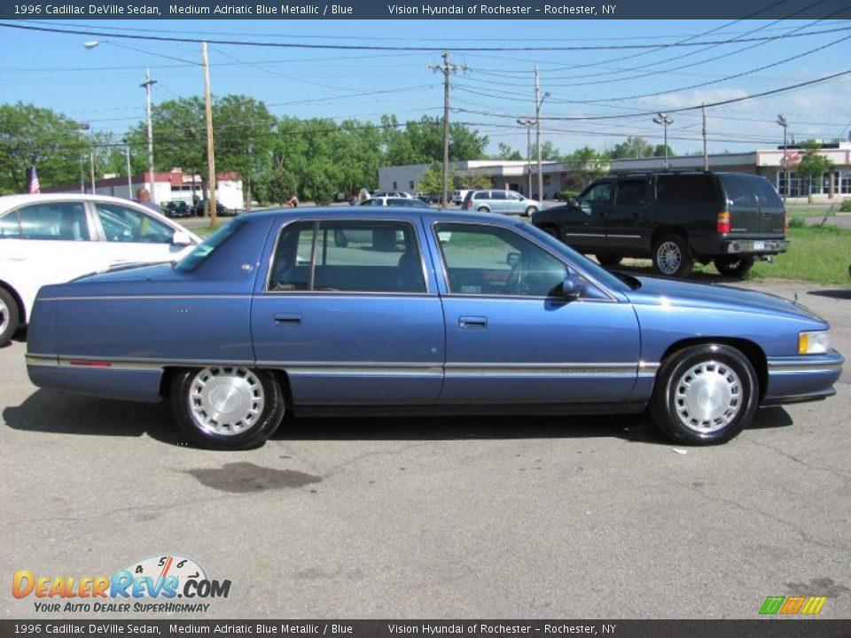 1996 cadillac deville sedan medium adriatic blue metallic blue photo 14. Cars Review. Best American Auto & Cars Review