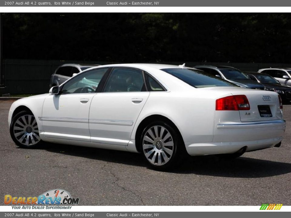 2007 Audi A8 4 2 Quattro Ibis White Sand Beige Photo 11