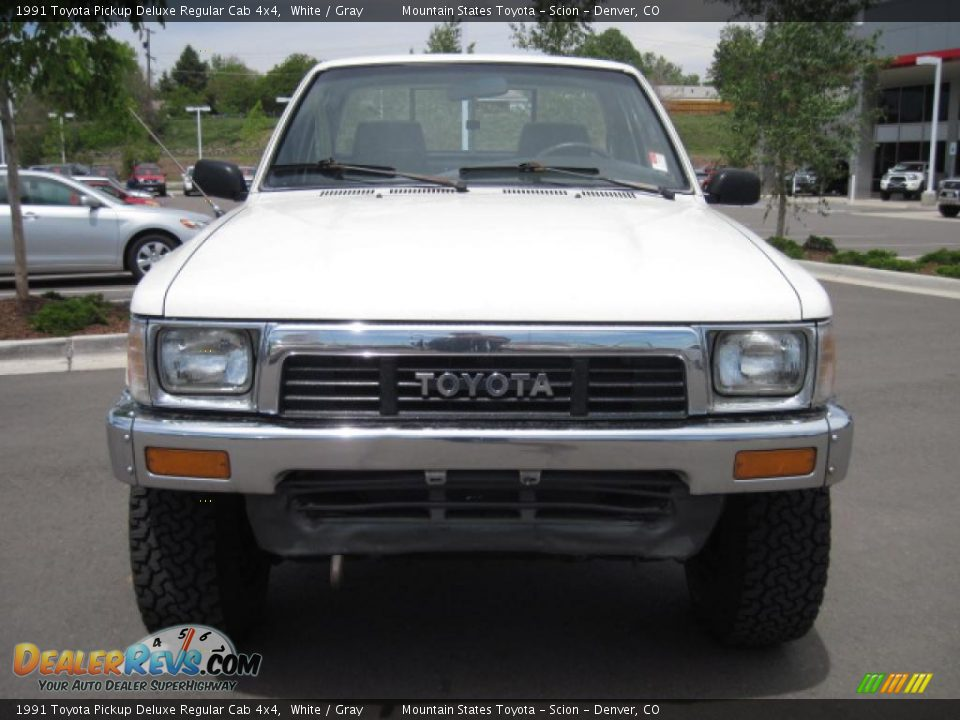 1991 toyota pickup deluxe regular cab 4x4 white gray photo 6. Black Bedroom Furniture Sets. Home Design Ideas