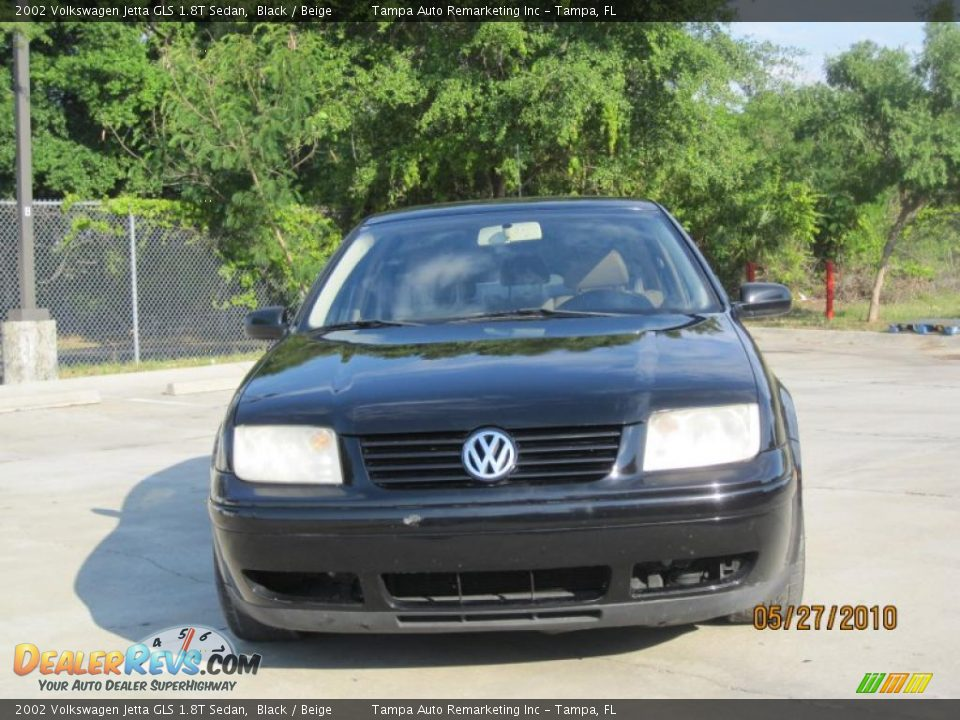 2002 Volkswagen Jetta Gls 1 8t Sedan Black Beige Photo