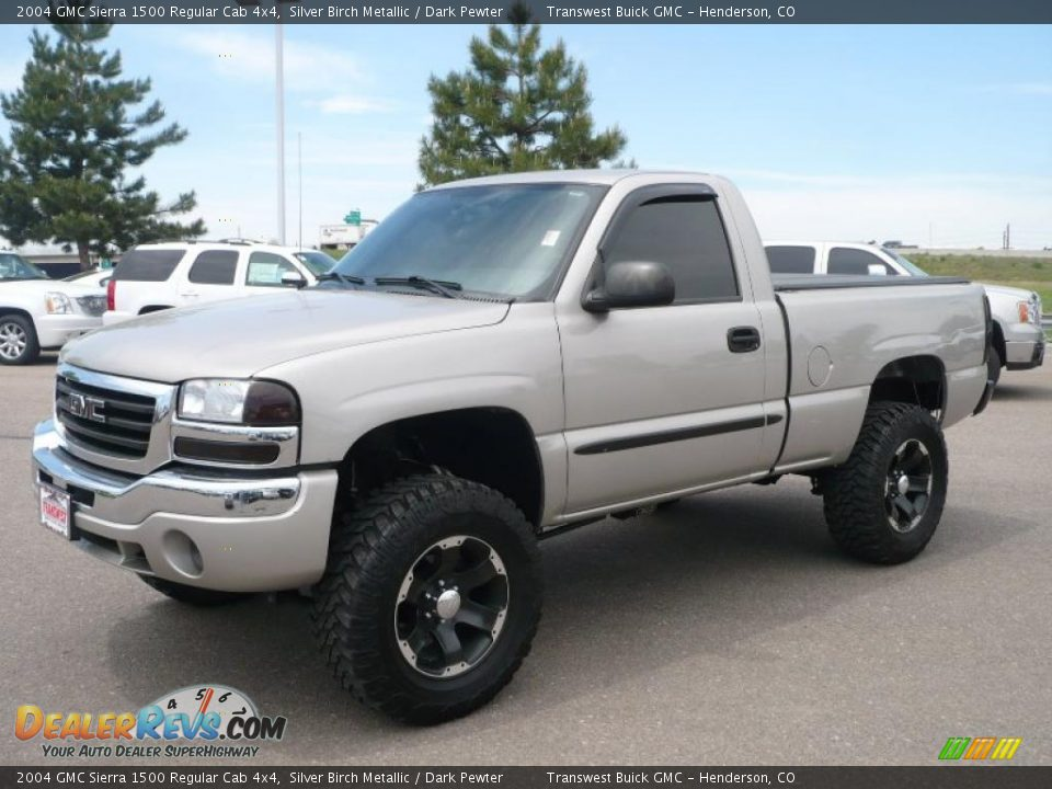 2004 gmc sierra 1500 regular cab 4x4 silver birch metallic. Black Bedroom Furniture Sets. Home Design Ideas