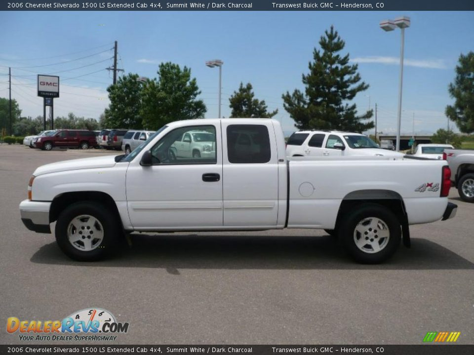 2006 chevrolet silverado 1500 ls extended cab 4x4 summit white dark charcoal photo 4. Black Bedroom Furniture Sets. Home Design Ideas
