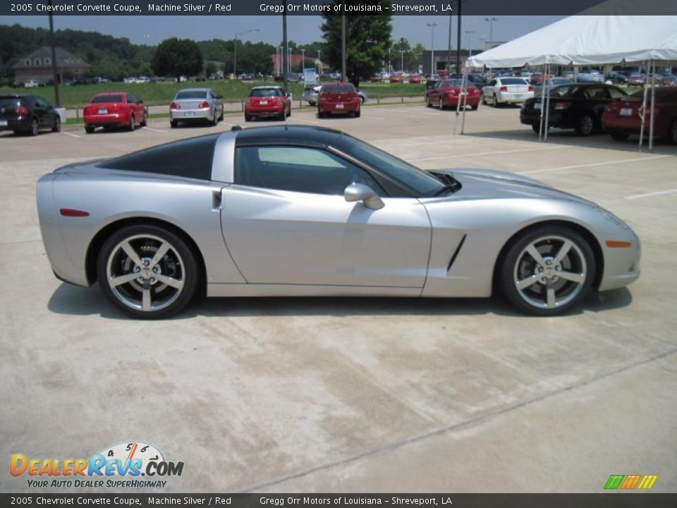 2005 chevrolet corvette coupe machine silver red photo. Black Bedroom Furniture Sets. Home Design Ideas