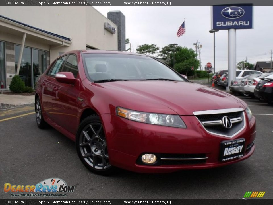 2007 acura tl 3 5 type s moroccan red pearl taupe ebony photo 1. Black Bedroom Furniture Sets. Home Design Ideas