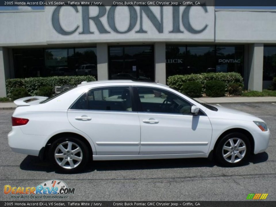 2005 honda accord ex l v6 sedan taffeta white ivory photo 1. Black Bedroom Furniture Sets. Home Design Ideas