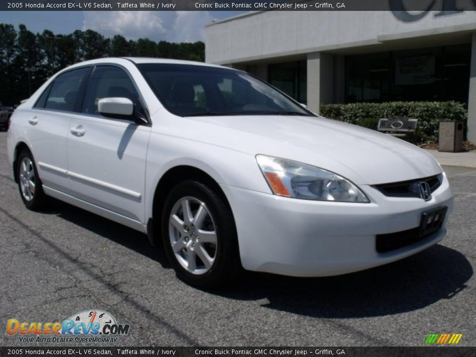 2005 honda accord ex l v6 sedan taffeta white ivory. Black Bedroom Furniture Sets. Home Design Ideas