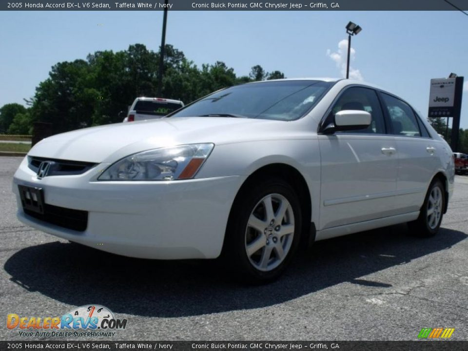2005 honda accord ex l v6 sedan taffeta white ivory photo 4. Black Bedroom Furniture Sets. Home Design Ideas