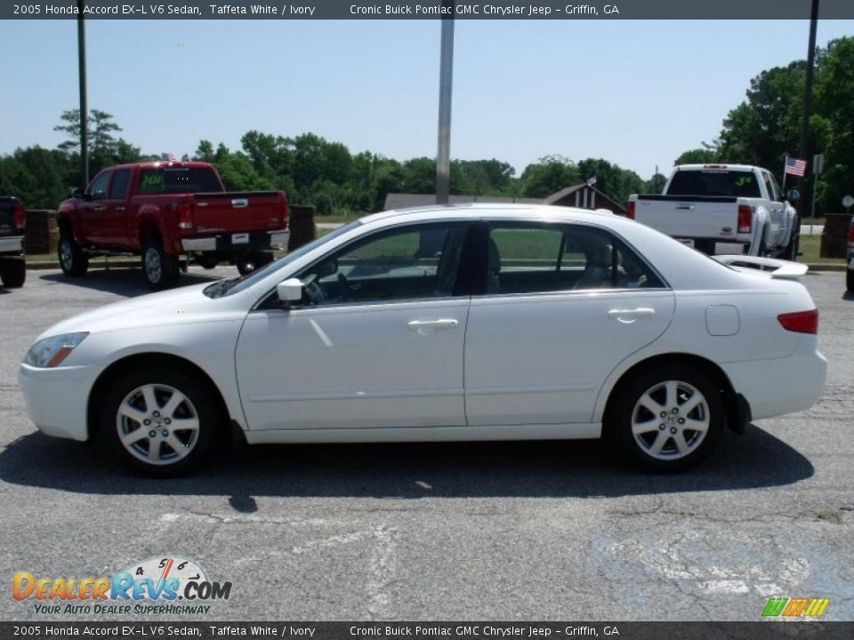 2005 honda accord ex l v6 sedan taffeta white ivory photo 5. Black Bedroom Furniture Sets. Home Design Ideas
