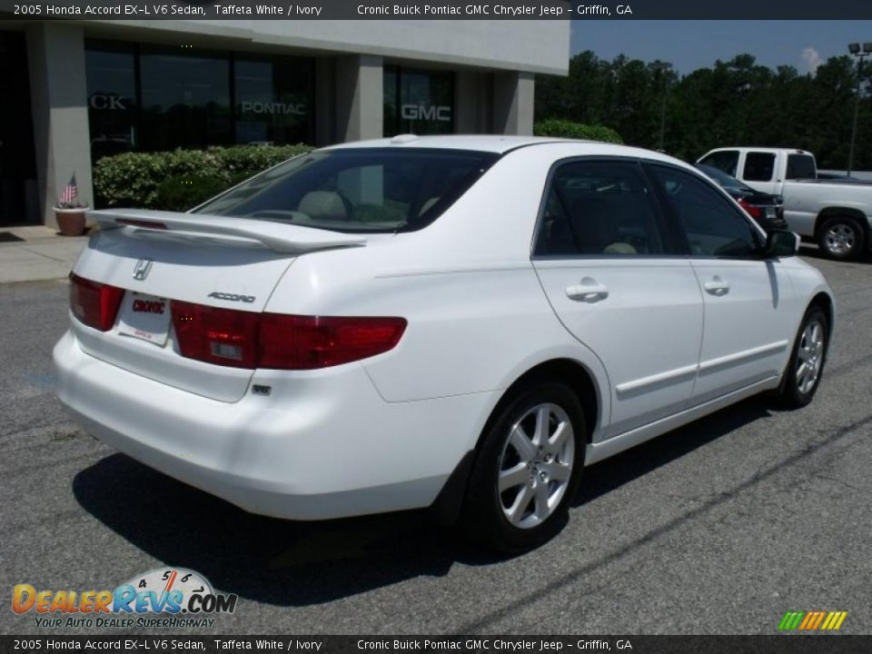 2005 honda accord ex l v6 sedan taffeta white ivory photo 8. Black Bedroom Furniture Sets. Home Design Ideas