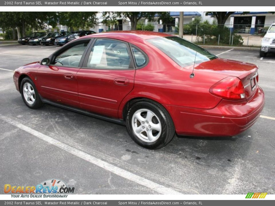 2002 Ford Taurus SES Matador Red Metallic / Dark Charcoal Photo #7 ...