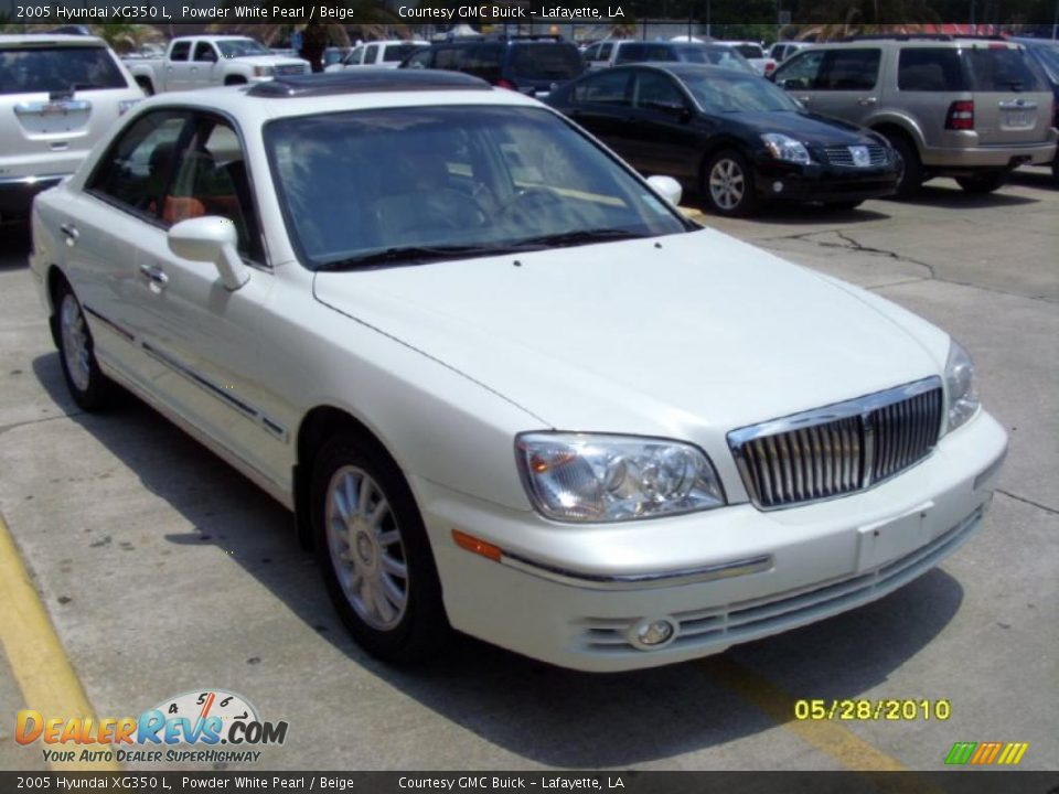 2005 Hyundai XG350 L Powder White Pearl / Beige Photo #5 | DealerRevs ...