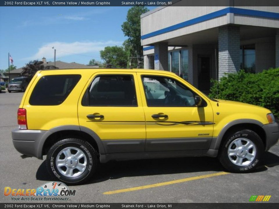 2002 Ford Escape Xlt V6 Chrome Yellow Medium Graphite