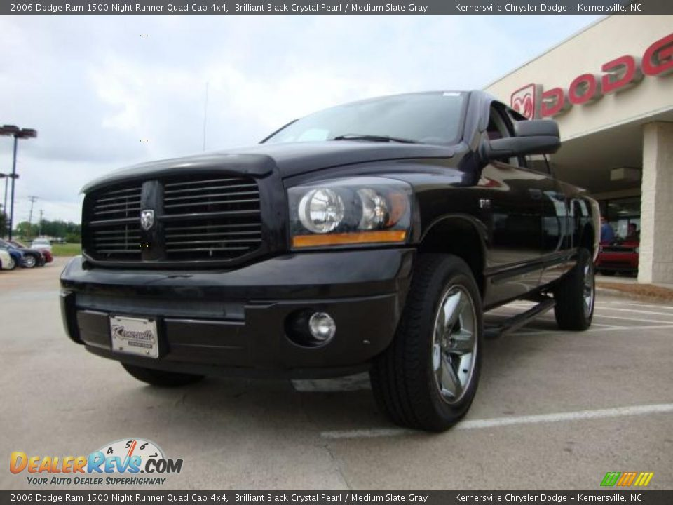 2006 dodge ram 1500 night runner quad cab 4x4 brilliant black crystal pearl medium slate gray. Black Bedroom Furniture Sets. Home Design Ideas
